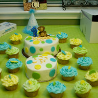 First Birthday Monkey Cake This was the first cake I did for anyone.