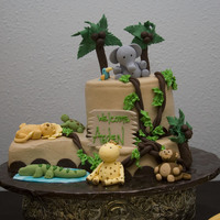 Jungle Theme Baby Shower Cake This was for a dear friends first baby shower.