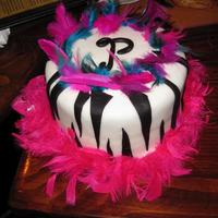 Zebra Birthday Cake This was for one of my best friends. This cake just screams her personality. First zebra cake, but it didn't turn out too bad.