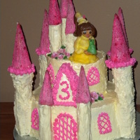 Princess And The Frog Castle Cake  I made this cake for a little girl looking for her prince, This is a 2 tier buttercream cake with fondant accents. Everything on this cake...