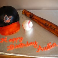 Baseball   This cake is made with half of ball cake.