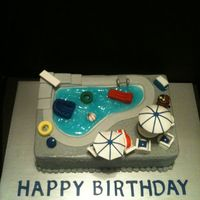 Pool Birthday Cake POOL BIRTHDAY CAKE