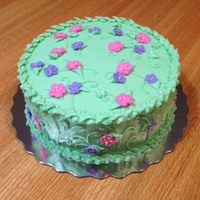 Spring Flowers Birthday Cake Butter cake with all BC decorations for a spring birthday