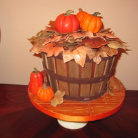 Fall Birthday Cake For A Friend Chocolate Cake With Chocolate Buttercream Filling Covered In Chocolate Buttercream Modeling Chocolate Pum Fall birthday cake for a friend. Chocolate cake with chocolate buttercream filling. Covered in chocolate buttercream. Modeling chocolate...