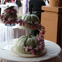 Pumpkins And Roses The pumpkin cakes were all carrot cake