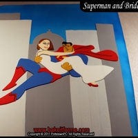 Superman And Bride Fondant Cake Superman and Bride cake. This was a groom?s cake made for a client who said her fianc? was her superman, so I modified a cartoon picture I...