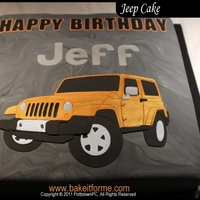 Jeep Fondant Cake This Jeep cake was made for Jeff D'ambrosio Dodge Auto Group in Downingtown PA. This was our first big client. The cake was orderd for...