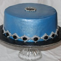 Jewel Birthday Cake Sugar Jewels with Sliver Gumpaste broaches.
