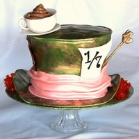 Mad Hatter Hat All edible, gumpaste tea cup, sugar hair