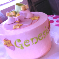 Baby Shower Cake SMBC with fondant and GP accents