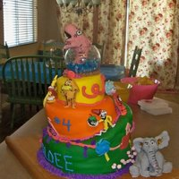 Dr. Seuss Topsy Turvey Cake This was my very first attempt at a topsy turvey cake. My sister requested a cake she saw in a picture. I changed a few things on it to...