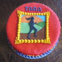 """portrait Of A Runner's Bliss"" Birthday Cake For my friend Tara, an amazing runner, who turned 30 recently."
