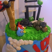 1321295694.jpg My Angry Birds Birthday Cake. I didnt even know what that was at the time. I think it came out very awesome :)