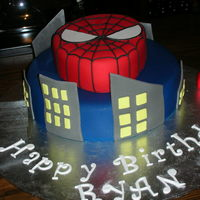 Spiderman Spiderman cake I made for my sons 3rd birthday