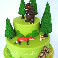 The Gruffalo Chocolate mud cake with chocolate ganache, fondant icing finish. All decorations made out of fondant icing and/or modelling chocolate. 13&...