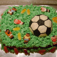 Soccer Birthday Cake Lemon cake