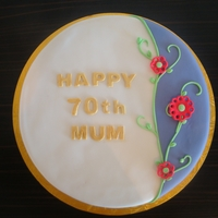 70Th Birthday Cake inspired by several cakes on CC forum.