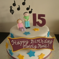 Birthday Cake For Music Programme This cake was made for a pre-schoolers music programme.