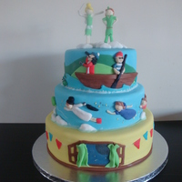 Cake Made For My Childrens Combined Birthday Party Cake made for my childrens combined birthday party.