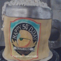 Shock Top Beer Theme Cake Shock Top Beer Theme mug 3 tier cake with edible personalized hand painted label to match actual beer label