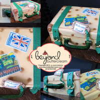 Welcome Home Suitcase Cake