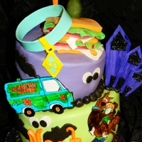 Scooby And Shaggy Topsy Turvy Birthday Cake