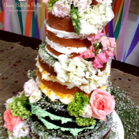 3 Tier Naked Wedding Cake With Various Flavors 3 tier naked wedding cake with various flavors