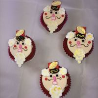 Nutcracker Cup Cake Toppers  These delicious treats were made dor the Twin Cities Ballet company. Red velvet with cream cheese frosting and vanilla cake with vanilla...