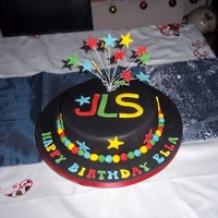 Jls Themed Birthday Cake I was asked for this cake for a little girls birthday the Mum has a picture of a similar cake and wanted the same colours etc. This is a...