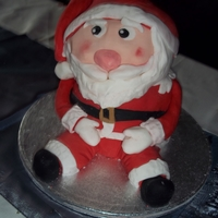 Santa Christmas Cake  This was my attempt at a santa cake. Unfortunately I did not leave myself enough time for this and as it was for myself and family did not...