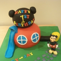 Mickey Mouse Clubhouse The person asking for the cake sent me a picture of the cake she wanted so this is not my design. It is a basic vanillia sponge with...