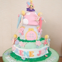 Fairy Toadstool Cake design is inspired by Debbie Brown's toadstool cake.