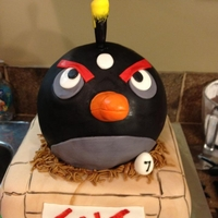 Angry Birds 7Th Birthday Cake All cake. Made for a friend for her sons birthday.