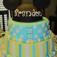 Mickey Mouse Cake Inspired From Invitation Mickey Mouse Cake inspired from invitation