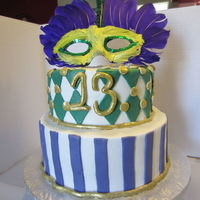 Mardi Gras Themed Birthday Cake Mardi Gras themed Birthday cake