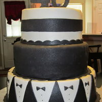 Black And White 40Th Birthday Cake Black and White 40th Birthday cake