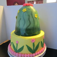 Tinkerbell Cake Customer Provided Tinkerbell That Sat On Top Tinkerbell Cake, customer provided Tinkerbell that sat on top