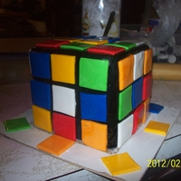 Rubiks Cube made this for a young mans b day he loves the rubiks cube