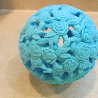 Fondant Amp Gum Paste Flowers Roses Made Into A Globe For A Cupcake Topper Top Tier For A Party fondant & gum paste flowers-roses made into a globe for a cupcake topper top tier for a party.