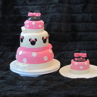Minnie Mouse 3 Tier B Day Cake With One For The Child 1St Birthday Home Made Marshmallow Fondant All Decorations Are Made Out Of Fondant minnie mouse 3 tier b day cake with one for the child 1st birthday. home made marshmallow fondant. all decorations are made out of fondant...
