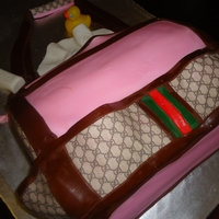 Gucci Diaper Bag Used two 9x13 and edible images