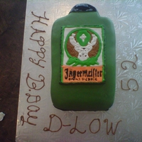 Jaggermeister Cake My moms favorite drink so i decided to give it a try my image didn't come in time so i had to free hand the image we'll i tried...