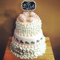 My Own Vintage Shower Cake ;) Made this for my own bridal shower. By far my fave cake yet!!