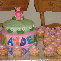 Uniqua Cake Back yardigan cake, made for a 3 year old.
