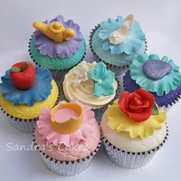 Princess Collection! Collection of dome topped cupcakes inspired by Disney Princesses. Each cake represents one of the 6 princesses, with the colour scheme...