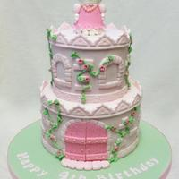 Hello Kitty Castle Cake For Leigha Inspired By Royal Bakery X *Hello Kitty Castle cake for Leigha, inspired by Royal Bakery x