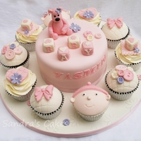 Yasmin   baby shower cake & cupcakes, inspired by Scrumptious Buns, Andrea Sweet Cakes & Truly Madly Sweetly cupcakes x