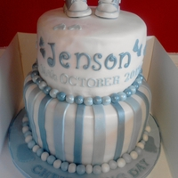 Christening Cake With Converse Handmade fondant converse top this vanilla christening cake