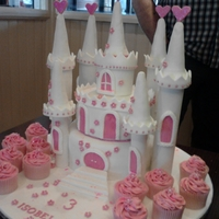 White Castle Princess castle and cupcakes