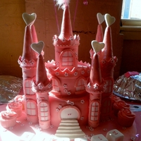 Princess Castle Christening Cake This castle was for a christening and was all glittery but you can't really see that on the pic, I got 3 orders for this cake after...